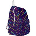 Background Lines Forms Foldable Lightweight Backpack View3