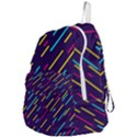 Background Lines Forms Foldable Lightweight Backpack View4