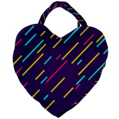Background Lines Forms Giant Heart Shaped Tote by HermanTelo