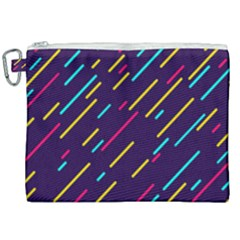 Background Lines Forms Canvas Cosmetic Bag (xxl)