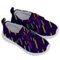 Background Lines Forms Kids  Velcro No Lace Shoes View3