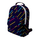 Background Lines Forms Flap Pocket Backpack (Large) View1
