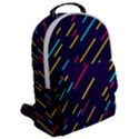 Background Lines Forms Flap Pocket Backpack (Large) View2