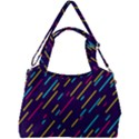 Background Lines Forms Double Compartment Shoulder Bag View2