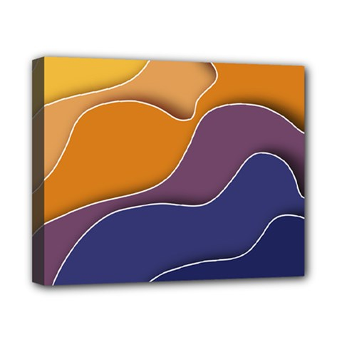 Autumn Waves Canvas 10  X 8  (stretched)