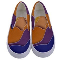 Autumn Waves Kids  Canvas Slip Ons