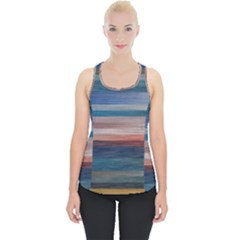 Background Horizontal Lines Piece Up Tank Top by HermanTelo