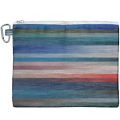 Background Horizontal Lines Canvas Cosmetic Bag (xxxl)