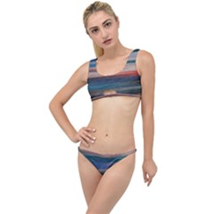 Background Horizontal Lines The Little Details Bikini Set