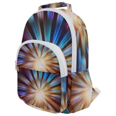 Background Spiral Abstract Rounded Multi Pocket Backpack