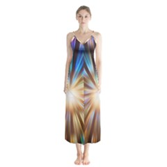 Background Spiral Abstract Button Up Chiffon Maxi Dress by HermanTelo