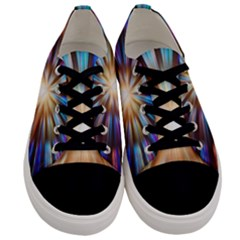 Background Spiral Abstract Men s Low Top Canvas Sneakers