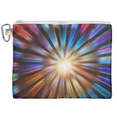 Background Spiral Abstract Canvas Cosmetic Bag (xxl)