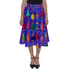 Background Stones Jewels Perfect Length Midi Skirt