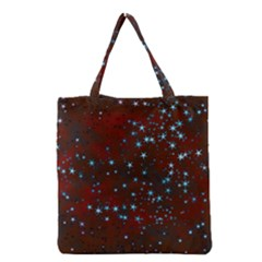 Background Star Christmas Grocery Tote Bag