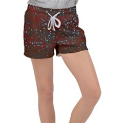 Background Star Christmas Women s Velour Lounge Shorts by HermanTelo
