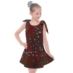 Background Star Christmas Kids  Tie Up Tunic Dress