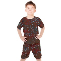 Background Star Christmas Kids  Tee And Shorts Set by HermanTelo