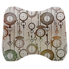 Background Watches Key Time Retro Velour Head Support Cushion