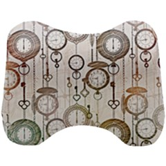 Background Watches Key Time Retro Head Support Cushion