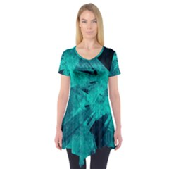 Background Texture Short Sleeve Tunic  by HermanTelo