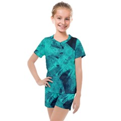 Background Texture Kids  Mesh Tee And Shorts Set