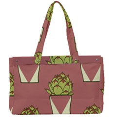 Cactus Pattern Background Texture Canvas Work Bag