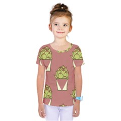 Cactus Pattern Background Texture Kids  One Piece Tee