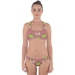 Cactus Pattern Background Texture Cross Back Hipster Bikini Set