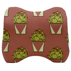 Cactus Pattern Background Texture Velour Head Support Cushion