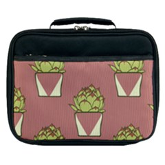 Cactus Pattern Background Texture Lunch Bag by HermanTelo