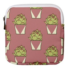 Cactus Pattern Background Texture Mini Square Pouch