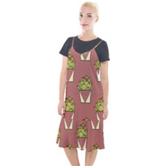 Cactus Pattern Background Texture Camis Fishtail Dress by HermanTelo