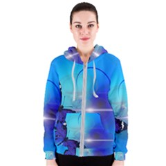 Butterfly Animal Insect Women s Zipper Hoodie
