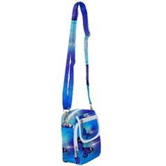 Butterfly Animal Insect Shoulder Strap Belt Bag by HermanTelo