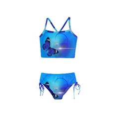 Butterfly Animal Insect Girls  Tankini Swimsuit