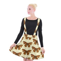 Butterflies Insects Pattern Suspender Skater Skirt