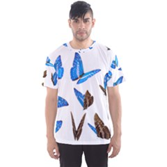 Butterfly Unique Background Men s Sports Mesh Tee