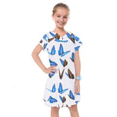 Butterfly Unique Background Kids  Drop Waist Dress