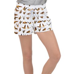 Butterflies Insect Swarm Women s Velour Lounge Shorts