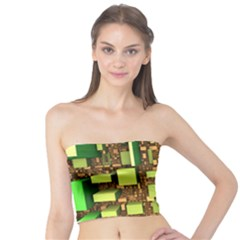 Blocks Cubes Green Tube Top by HermanTelo