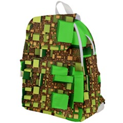 Blocks Cubes Green Top Flap Backpack