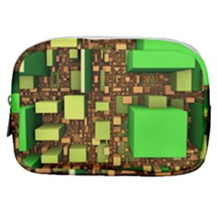 Blocks Cubes Green Make Up Pouch (small)