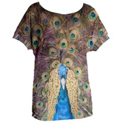 Bird Peacock Feather Women s Oversized Tee by HermanTelo