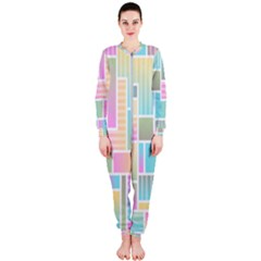 Color Blocks Abstract Background Onepiece Jumpsuit (ladies)
