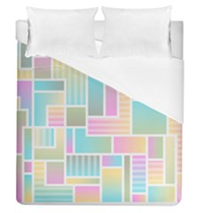 Color Blocks Abstract Background Duvet Cover (queen Size)
