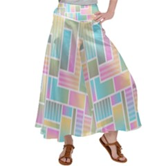 Color Blocks Abstract Background Satin Palazzo Pants by HermanTelo