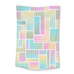 Color Blocks Abstract Background Small Tapestry by HermanTelo