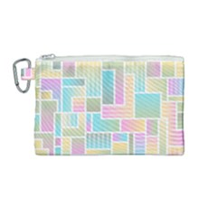 Color Blocks Abstract Background Canvas Cosmetic Bag (medium)