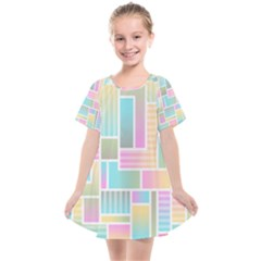 Color Blocks Abstract Background Kids  Smock Dress by HermanTelo